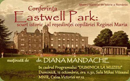 National Museum of the History of Romania hosts conference on Eastwell estate, Queen Marie's childhood residence
