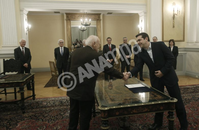 Alexis Tsipras sworn in as Greece's new prime minister
