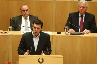 Greek PM calls on the Cypriot President and the Parliament to stand by Athens