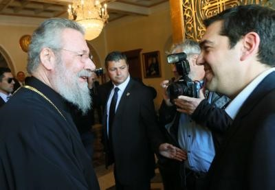 Greek Premier meets Archbishop, pays respects to anti-colonial fighters