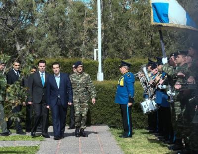 The Greek contingent in Cyprus committed to freedom, independence and justice, Tsipras stresses