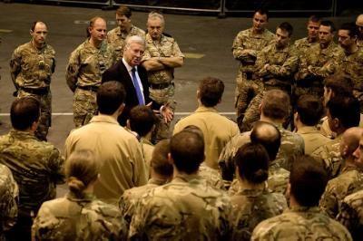 British Defence Secretary visits to RAF base Akrotiri