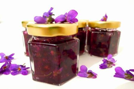 A delicate floral treat: Violet preserve