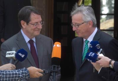 Juncker expresses EU solidarity for a Cyprus solution