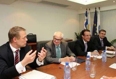 Troika heads continue contacts in Cyprus