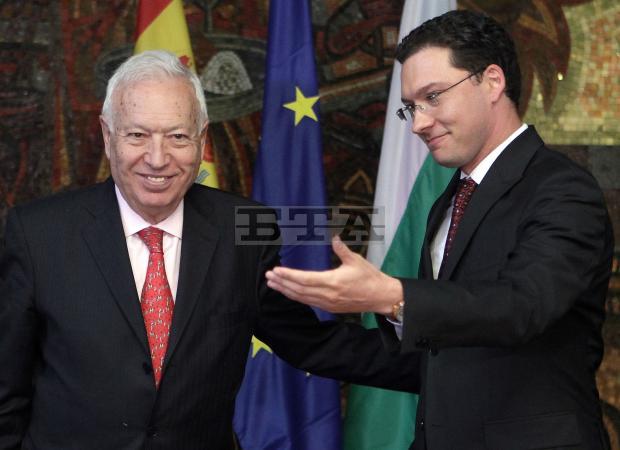 Spanish Foreign Minister Garcia-Margallo Talks with Bulgarian Counterpart Mitov and PM Borissov, Participates in Business Forum in Sofia