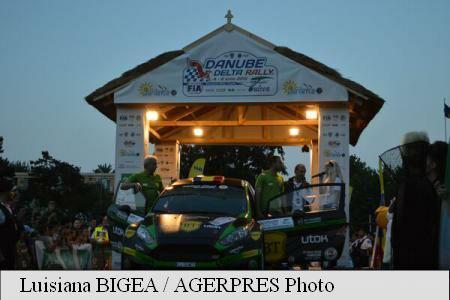 SportsMin Szabo, Prince Nicholas at ceremonial start of Danube Delta Rally