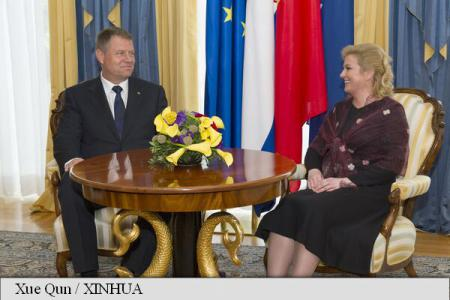 Presidents Iohannis, Grabar-Kitarovic discuss Romania-Croatia relations, economy, minorities