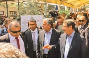 Cyprus leaders jointly attend a theater play in Limassol