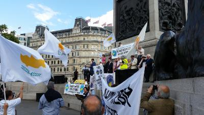 Trafalgar Square rally calls for an end to Cyprus's occupation by Turkey