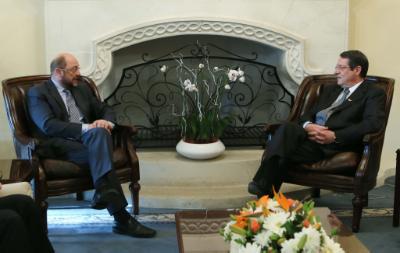 Anastasiades – Schulz discuss Cyprus problem and Greece