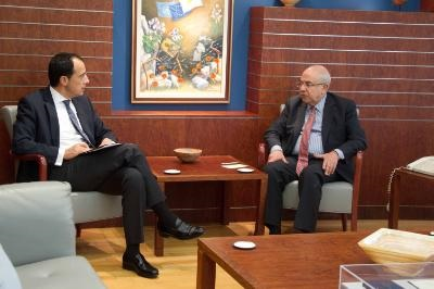 Spokesman briefs House President on state of affairs at Cyprus talks