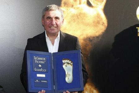 Gheorghe Hagi awarded the Golden Foot trophy