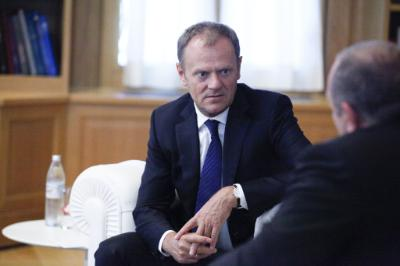 The Cyprus issue and the economy on the agenda of talks between Anastasiades and Tusk