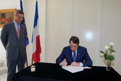 Cyprus assures France of its solidarity after Paris attacks
