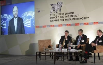 Cyprus can become a beacon of peaceful co-existence, says Schulz