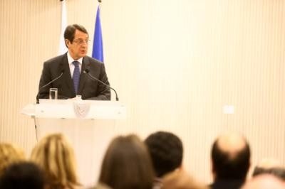 President vows to work tirelessly for a Cyprus solution