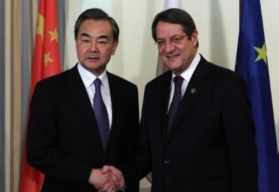 President Anastasiades and Chinese FM discuss the Cyprus problem, bilateral relations and cooperation