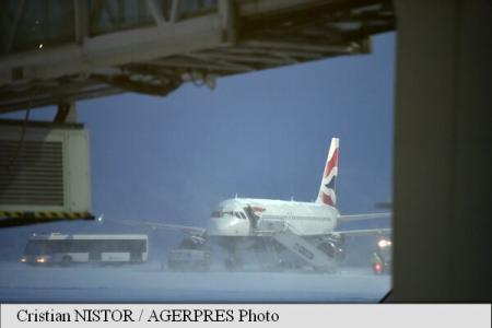 Air traffic in winter conditions; no flights cancelled, some delayed