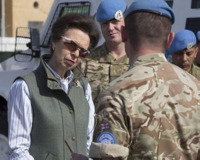 Princess Anne visits British troops in Cyprus