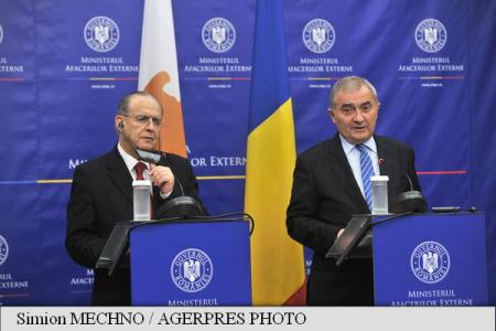 ForMin Comanescu meets Cypriot counterpart Kasoulides, discusses latest developments in EU's eastern neighbourhood
