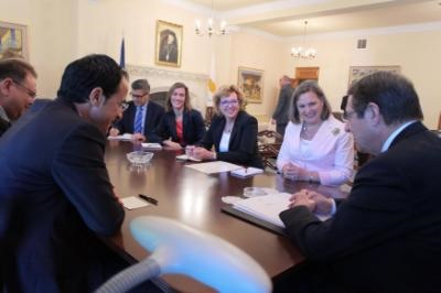 Cyprus talks, bilateral ties and regional issues during Nuland visit to Nicosia