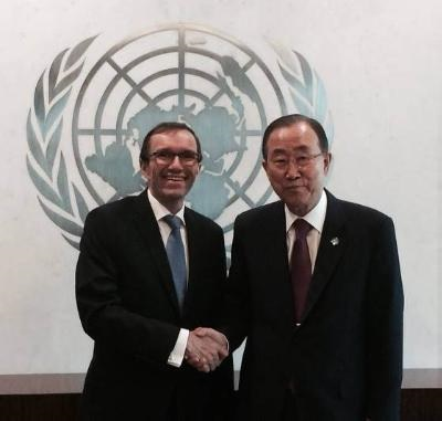 "The UN refers to ""unprecedented progress"" in the Cyprus peace effort in the past year"