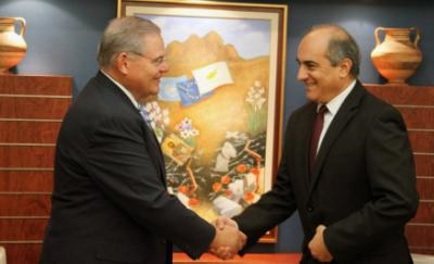 US Senator Menendez discusses developments in the Cyprus problem with House President