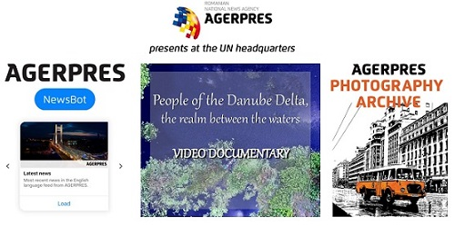 "AGERPRES premieres at UN – Romania's first Facebook Messenger NewsBot and ""The realm between waters"" documentary"